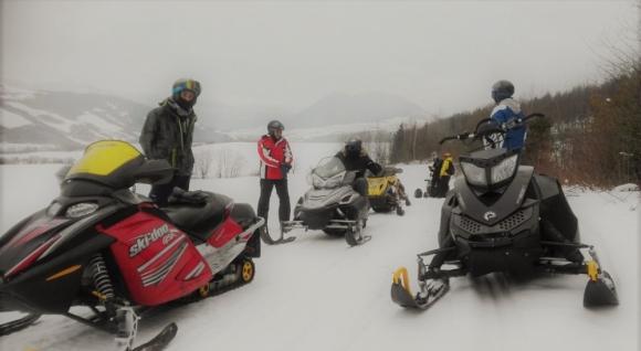 Jazda na snežnom skútri