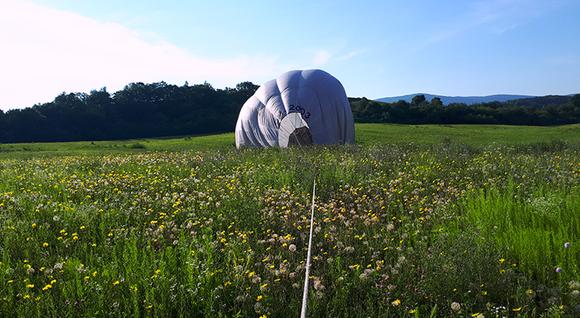 Rodinný let balónom