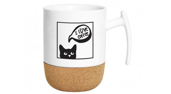 Korkový hrnček pre milovníkov mačiek