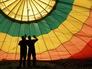 Balón po přistání