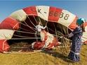 Vyfukovaní balónu po přistání